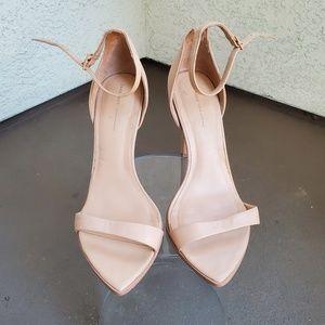 Zara Nude Triangular Heels